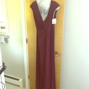 David's Bridal wine colored bridesmaid dress. NWT
